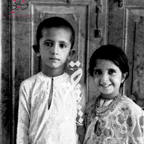الشيخ محمد بن راشد وأخته الشيخة حصة بنت راشد بن سعيد آل مكتوم